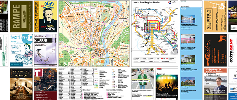 Portfolio Stadtplan Baden