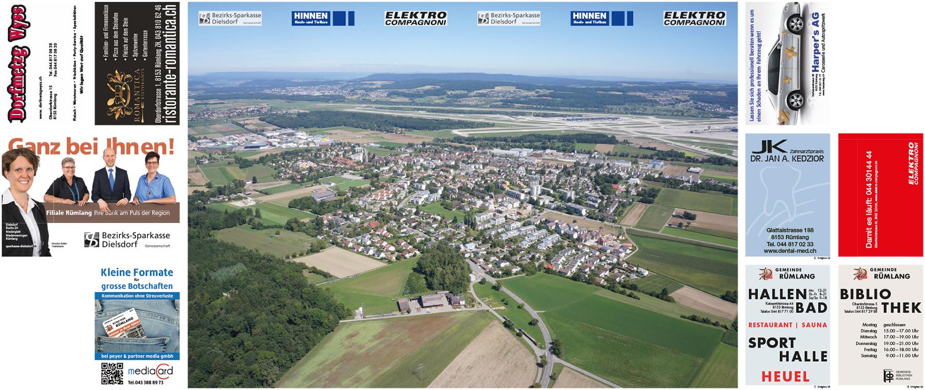 Ortsplan Rümlang Luftbildseite